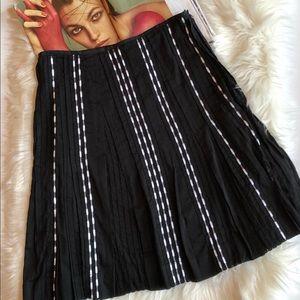 Anthropologie Odille Black White A-Line Skirt 4